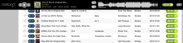 2013-11-08_Beatport_Top20 Wes Smith, White Boy Awesome, The Juice Squad, BadboE